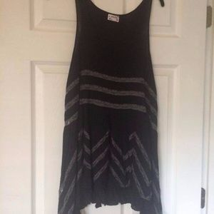Free People Sleeveless Black Combo Trapeze Dress