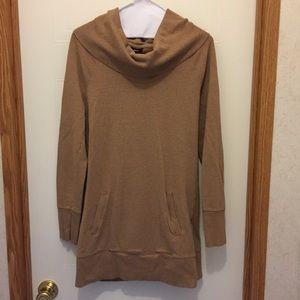Mossimo Tan Sweater Dress w/ pockets