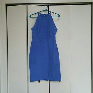 Sunrise blue bi-stretch halter dress