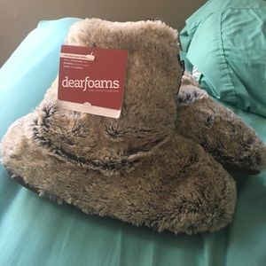 Shoes - Brand new Dearfoam furry slippers