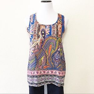 Francesca's colorful paisley tank