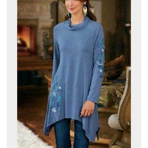 Soft Surroundings Amelia embroidered tunic