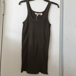 New Inhabit SZ M Brown Ribbed Sleeveless Tank