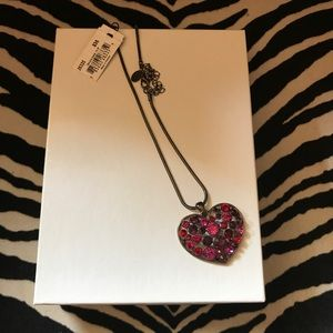 Heart Necklace, Genuine Crystal