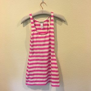 Juicy Couture pink and white striped coverup