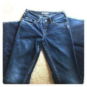 Women's 27 silver jeans
