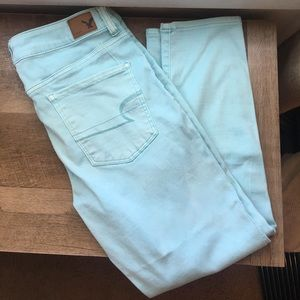 Baby blue stretchy jeggings!