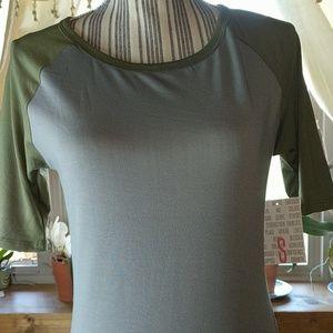 "Lularoe JULIA dress sm 2/4 34"" bust gray&olive"