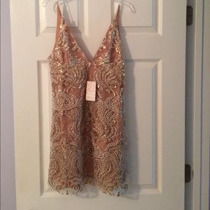Free People Night Shimmers Mini Dress Sz 0 NWT