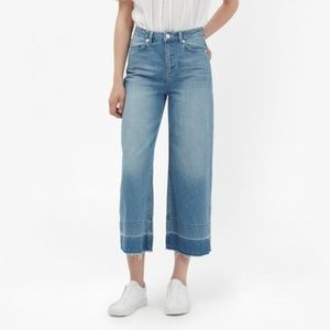 French Connection Wide Leg Crop Jeans