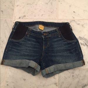 Maternity jean shorts