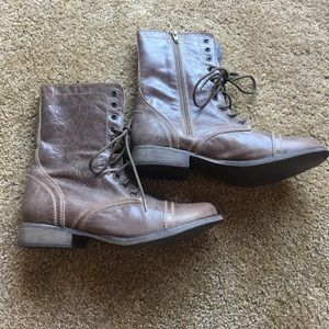 Steve Madden Combat Boots Size 9.5