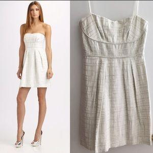 BCBGMaxAzria Jacquard Strapless Dress