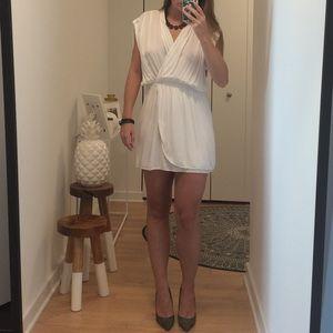 ASOS White Wrap Dress