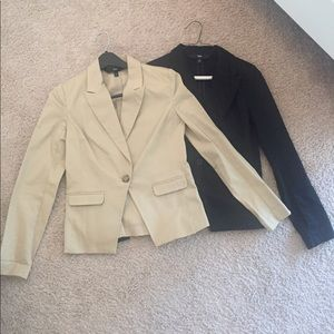 2 Mossimo blazers size 6 - khaki and black