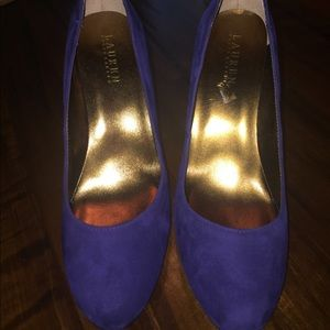 Ralph Lauren Blue Suede Pumps