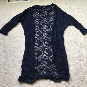 Navy lace cardigan