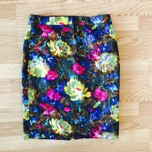 J crew Collection No 2 Pencil Skirt Floral Brocade