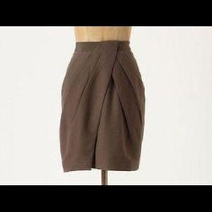 Fei taupe brown tulip skirt