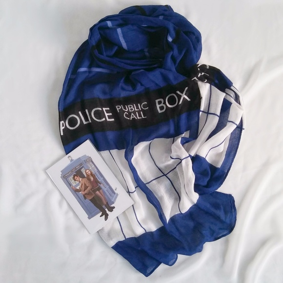 Bbc Doctor Who Accessories Tardis Scarf Poshmark