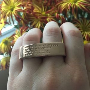Marc by Marc Jacobs SS Double Ring/Goldtone
