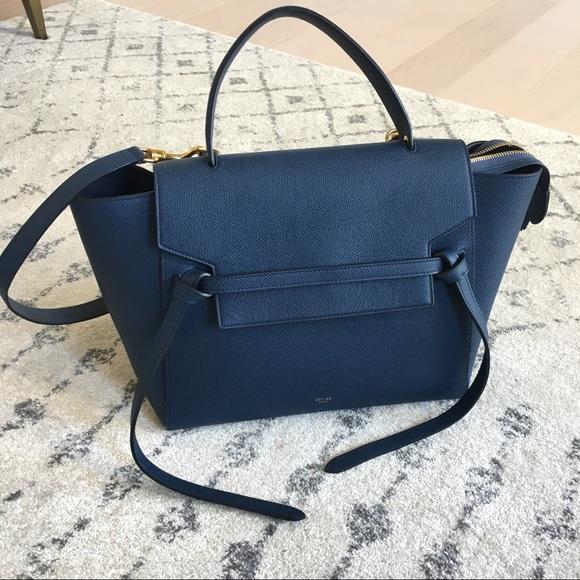 611cff57ecc3 Celine Handbags - 💯Celine Mini Belt Bag in Deep Sea Blue
