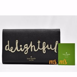 NWT Kate Spade DELIGHTFUL LEATHER CLUTCH