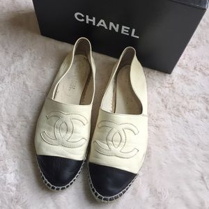 Chanel Single Sole Leather Espadrilles