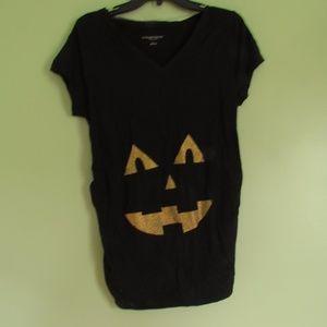 Glittery Halloween maternity top