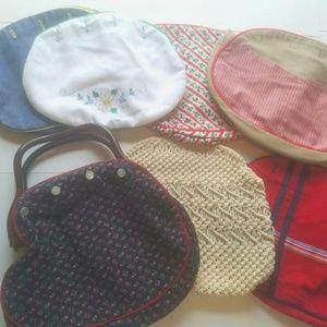 Vintage 14 interchangeable purse cover lot