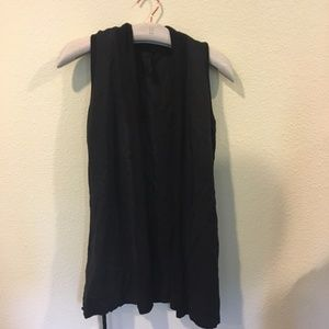 Young, Fabulous and Broke tie black vest