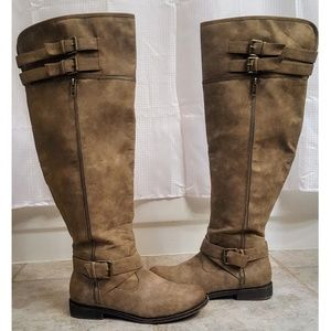 Taupe Knee High Boots