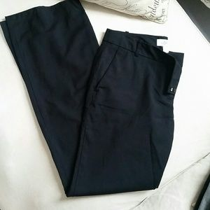 Black trousers with small pinstripe