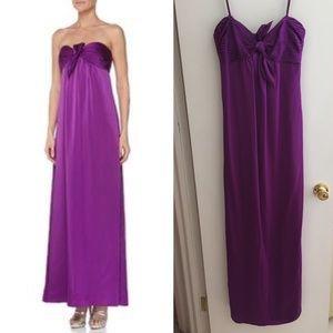 BCBGMaxAzria Sill Strapless Gown