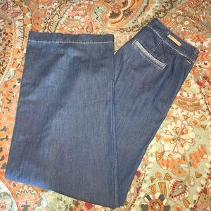 Pilcro & the letterpress trouser wide leg jeans