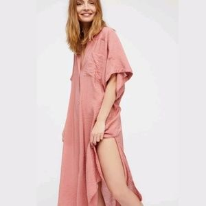 NEW Free People Georgie Button Front Maxi Top
