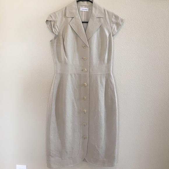 920fd98f263 Calvin Klein Dresses   Skirts - Calvin Klein Linen Dress