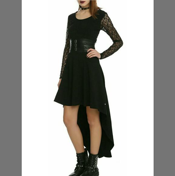 HOT TOPIC ROYAL BONES TRIPP BLACK GOTH DRESS. M 59c532df2ba50a787b02d863 2088fcf63