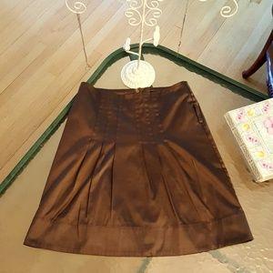 H&M Chocolate Brown Shiny Sleek Skirt