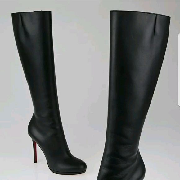 cheaper 3e66c cd3ec ✔SOLD✔Christian Louboutin Botalili Black Boots