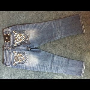 Miss Me Embellished Cropped Jeans- Women's Size 27