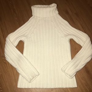 Express women's Cable Knit sweater mock neck