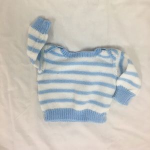 Other - Blue and white striped baby sweater
