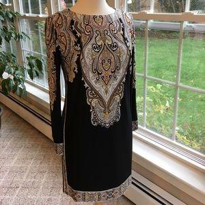 Black sheath dress by Donna Morgan