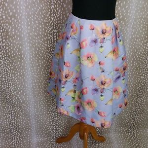 MUSTARD SEED FLORAL PRINT CIRCLE SKIRT SIZE M