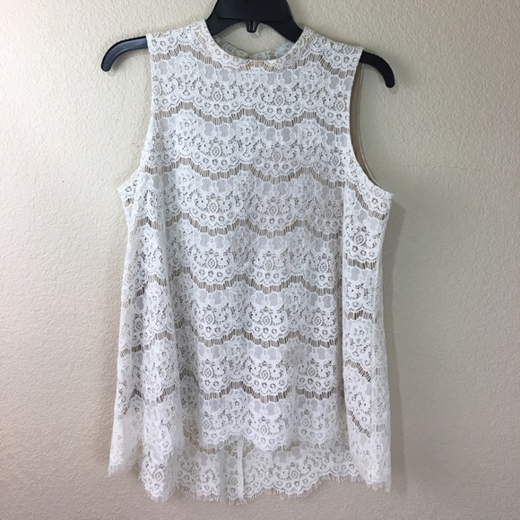 e9e54ade90cb62 Rose   olive Cream lace top. M 59c53a358f0fc47d3202f932