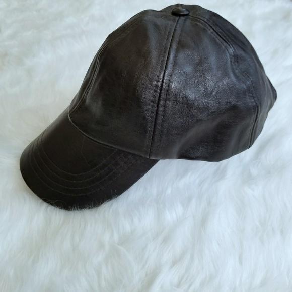 Handmade Authentic Leather Ball Cap Unisex 5e6d48baab3