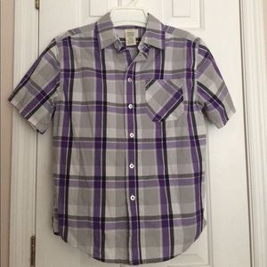 """Faded Glory"" Boys Short Sleeves Button Shirt. XL"
