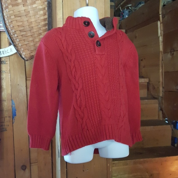 Warm red sweater. 3t 3TB from Jeanette's closet on Poshmark