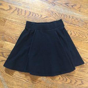 H&M black circle skater skirt